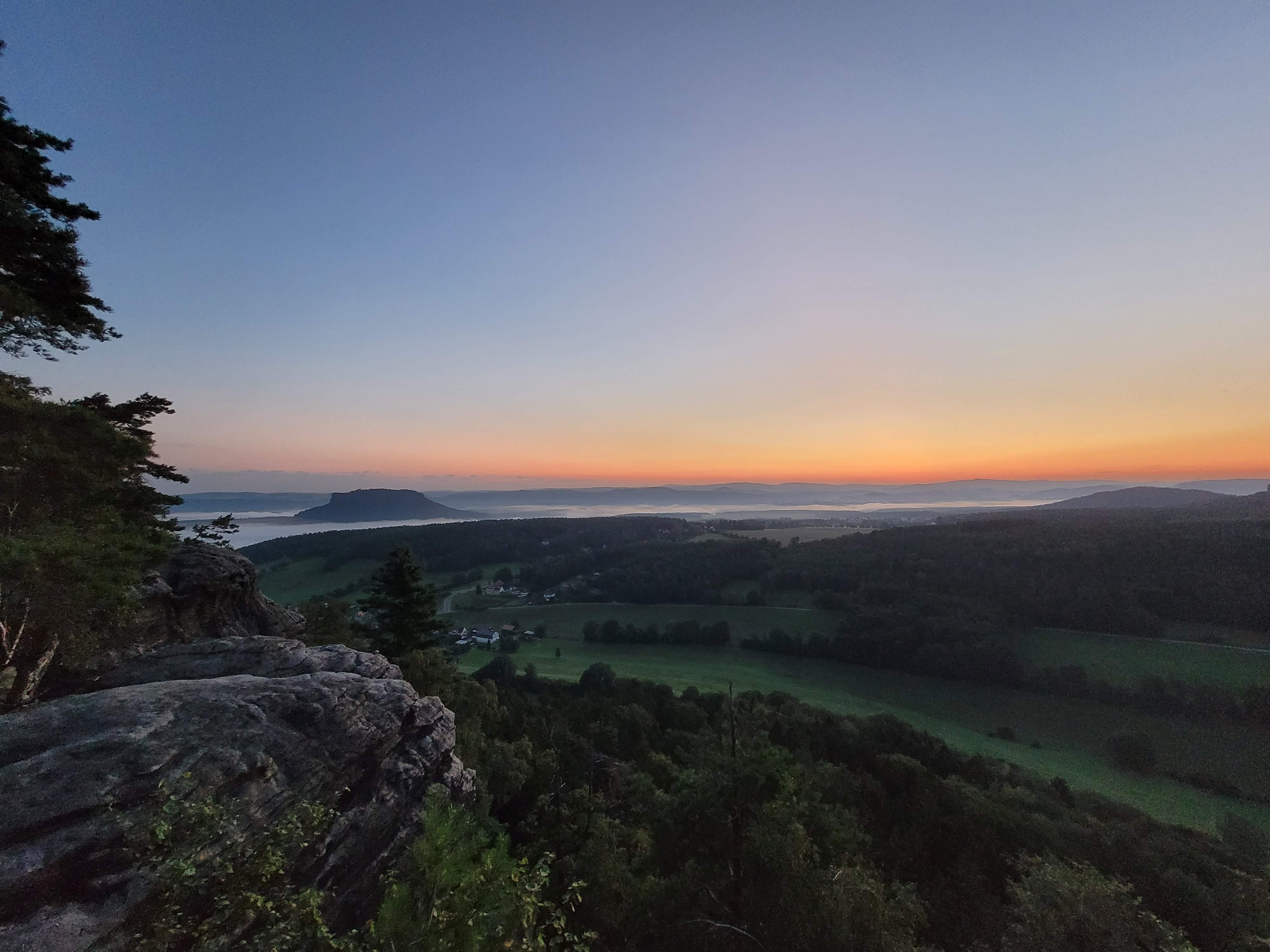 Sonnenaufgang Pfaffenstein