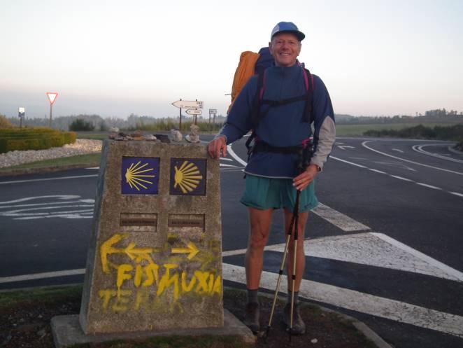 auf dem spanischer Jakobsweg Camino Francès